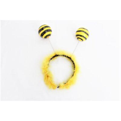 Bienen-Haarreif mit zwei Bommeln
