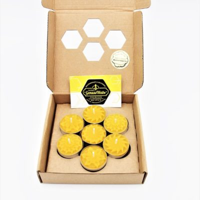 7 Teelichter-Blumenmotiv-Geschenkset-Natur Produkt